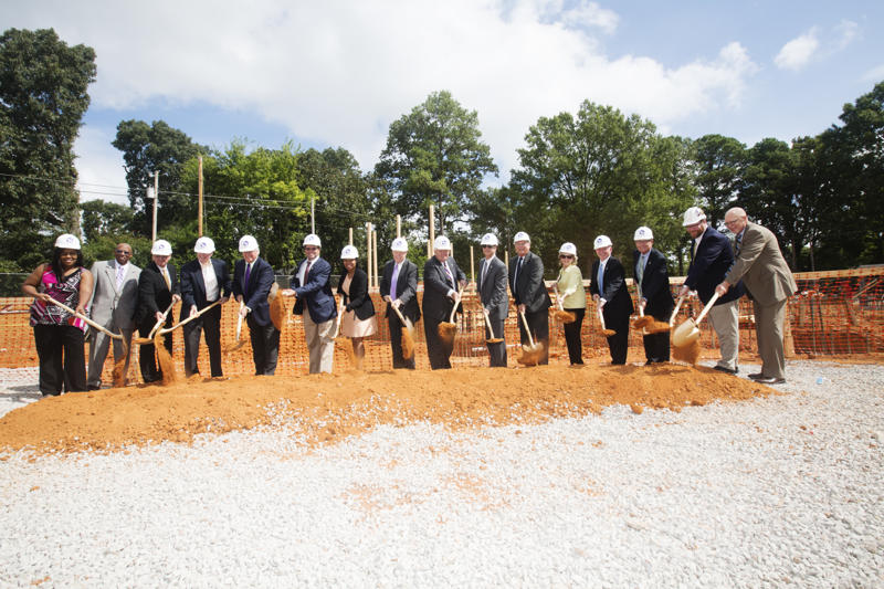 Groundbreaking for the new Residential Student Housing